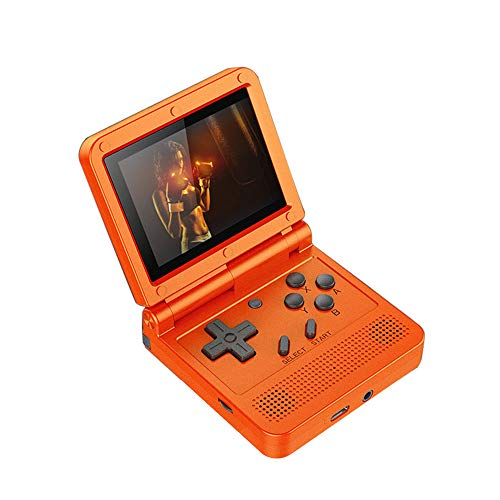 GoolRC Flip Handheld Console 3-inch IPS Screen Open System Game Console with 16G TF Card Built in 2000 Games Portable Mini Retro Game Console for Kids Red