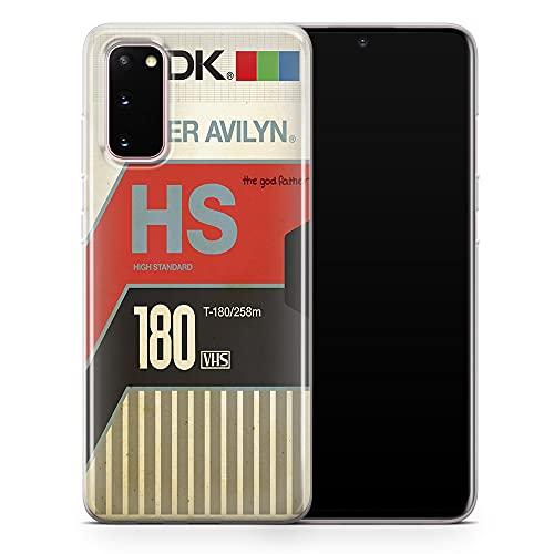 Old VHS Cassette Funda para teléfono celular, Vintage Classic Cover encaja con Samsung Galaxy S21 ultra – Delgado Delgado Suave TPU Silicona Bumper – Diseño 3 – A61