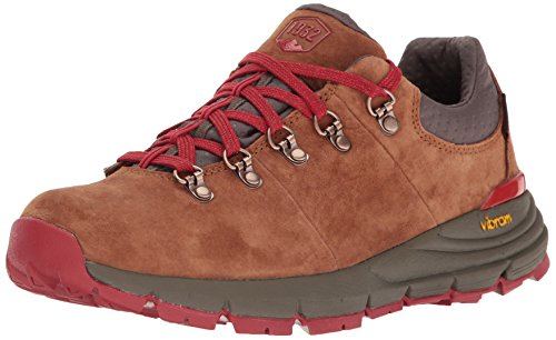"Danner Women's Mountain 600 Low 3"" Brown/Red Hiking Boot, 9.5 M US"
