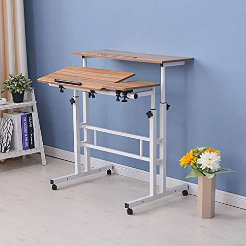 Mesa de oficina plegable para ordenador portátil PC escritorio mesa escritorio con soporte para el hogar altura ajustable estación de trabajo E 30 x 80 cm -F_30 x 80 cm