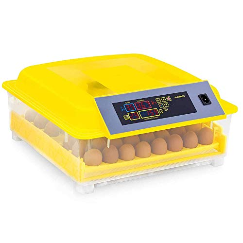 Incubatrice Automatica per 48 Uova, Incubatore Intelligente Digitale con Schermo a LED di Temperatura e Sensore di Temperatura Preciso