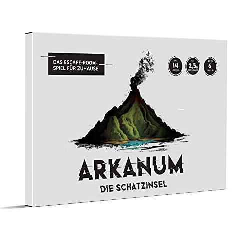 Arkanum La isla del tesoro – Juego Escape Room para adultos, amigos y familias, juego de mesa para 1 – 6 personas