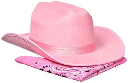 Aeromax Junior Cowboy Hat with Bandanna, Pink Sparkle, Youth