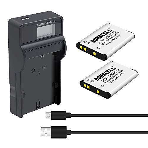 Bonacell Akku für Nikon EN-EL19 Ersatzakku 2400mAh und (1) USB Ladegerät Set Kompatibel mit Nikon Coolpix S32,S100,S2600,S2700, S2750, S3100, S3200, S3300, S3500, S4100, S4150
