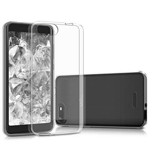 kwmobile Hülle kompatibel mit Wiko Tommy 3 - Silikon Handyhülle transparent - Handy Hülle in Transparent