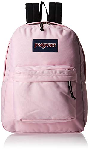 JanSport SuperBreak Backpack - Lightweight School Pack, Pink Mist, One Size
