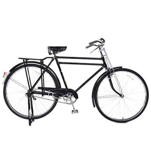 TWW Bicicleta Retro Bicicleta para Hombres, Mujeres, Viajero, Vintage, Bicicleta para Adultos, 28 Pulgadas, Tradicional, Mango Plano, Retro, Bicicleta De Carga Pesada,3