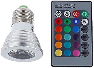 SGJFZD E27/E26 RGB LED Spotlight 3W LED Lamp 85-265V Lamp High Power 16 Colors Changeable Home Decoration LED Light Bulb I...