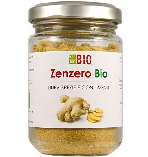 Zenzero polvere Bio 50 g - 100% Naturale Gluten free Vegan - Tisane e Spezia da cucina per condimenti - Vasetto vetro LaborBio
