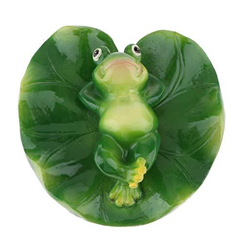 B Blesiya Süße Frosch Teichdekoration Schwimmform, ideal für Teich Aquarium Fishpod Deko - B# auf dem Rücken Frosch