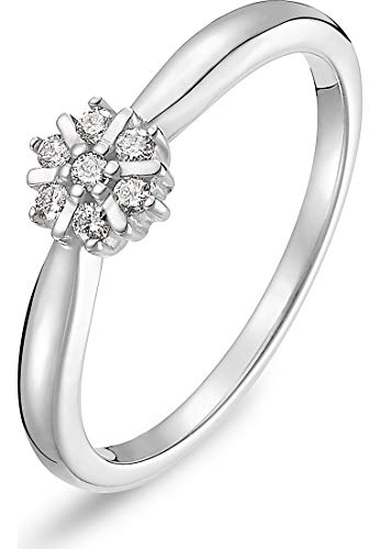 CHRIST Diamonds Damen-Damenring 7 Diamant 50 Weißgold 32000215