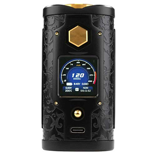 SXmini G Class Box MOD 200 Watt, Riccardo e-Zigarette - Akkuträger, schwarz-gold