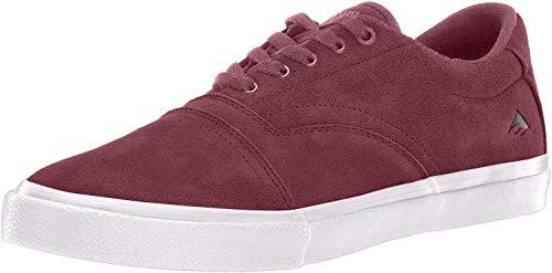 Emerica Herren Provider Skate Schuh, Rot (Burgunderrot/Weiß), 41 EU