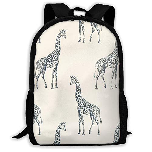 Frightened Giraffe Backpack School Bag, 3d Print Lightweight Bookbag Travel Daypack For Boys & Girls