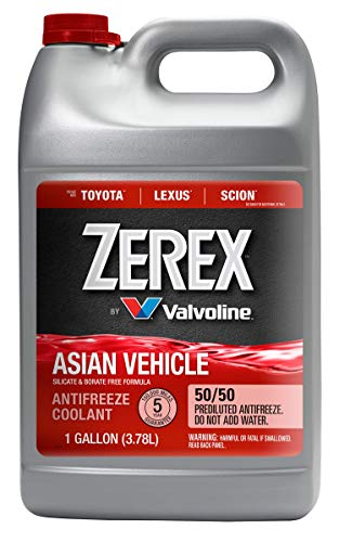 Zerex Asian Vehicle Red Silicate and Borate Free 50/50 Prediluted Ready-to-Use Antifreeze/Coolant 1 GA