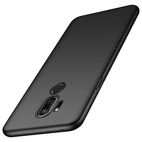 anccer LG G7 ThinQ Hülle, LG G7 Hülle, [Serie Matte] Elastische Schockabsorption und Ultra Thin Design (Kies Schwarz)
