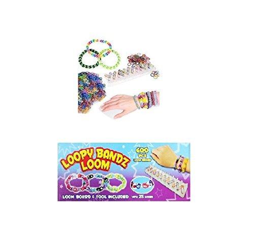 24 X Loom Band Set Avec 600 Bandes de Loom, 1 Loom + Crochets - Sac Parti Jouets