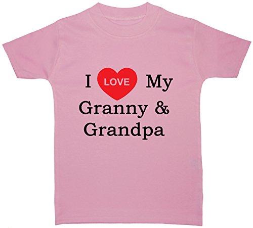 T-Shirts I Love My Granny & ‿Grandpa Baby/Children 0 à 5 ans - Rose - Large