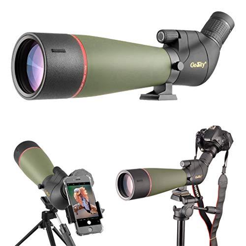 Gosky 20-60 X 80 Porro Prism Spotting Scope- Waterproof Scope for Bird watching Target Shooting Archery Range Outdoor...
