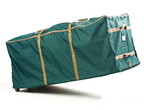 Covermates Keepsakes Christmas Tree Storage Rolling Cinch Bag – Superior Protection – Fits Up to 9 to 11 Foot Tree - Holiday Storage - Green