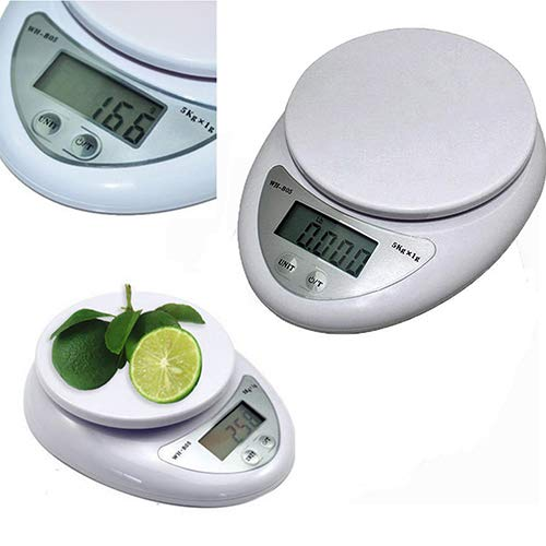 ExhilaraZ High Precision 5kg 5000g 1g Digital Kitchen Food Diet Postal Scale Electronic Weight Balance