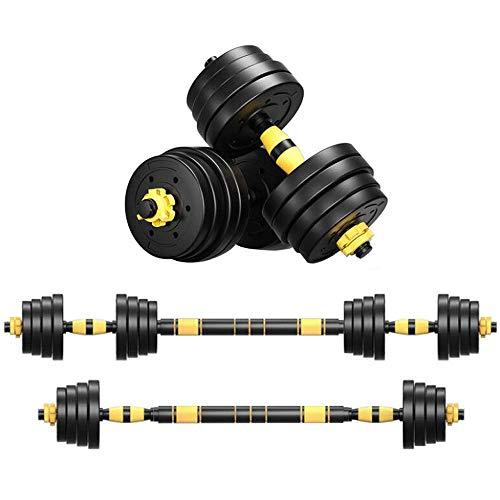 BBZZ Juego de mancuernas ajustables con barra de conexión para gimnasio, entrenamiento, entrenamien