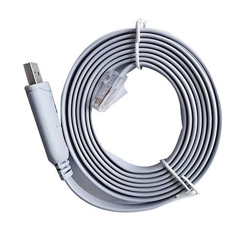 QiKun-Home Cable Adaptador de Consola USB a RS232 Serie a RJ45 CAT5 para enrutadores Cisco FTDI Azul
