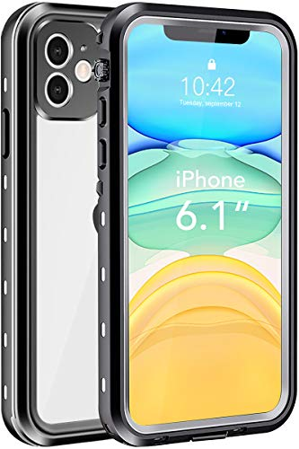 iPhone 11 Waterproof Case, Shockproof Dropproof Dirt Rain Snow Proof iPhone 11 Case with Screen Protector, Full Body Protection Heavy Duty Underwater Cover for iPhone 11/6.1'【2019】