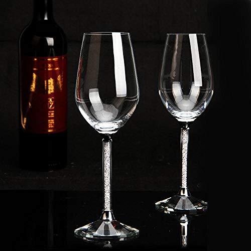 ZMK-720 Regalo Creativo 350 Ml Juego De Copas De Vino De Cristal Cinturón De Protección Ambiental para El Hogar Diamante Regalo De Artesanía Creativa Copa De Vino @ En