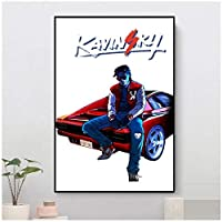 Suuyar KavinskyウォールアートポスターとプリントプリントキャンバスPaintingforリビングルームホームベッドルーム装飾カフェバー-20X30インチX1フレームレス