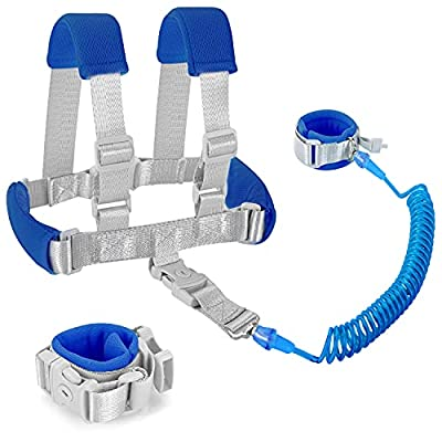 Toddler Harness Safety Leashes 2 in 1 Child Harnesses and Leashes for Kids with Child Leash Backpack and Wristband