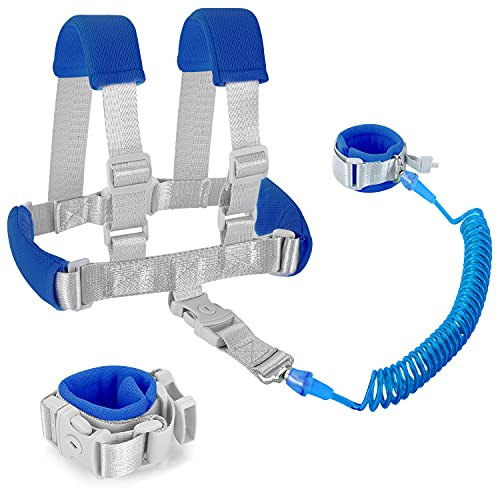 Product Image of the Child Leashes for Toddlers - Toddler Harness with Leash 2 in 1 Wrist to Wrist...