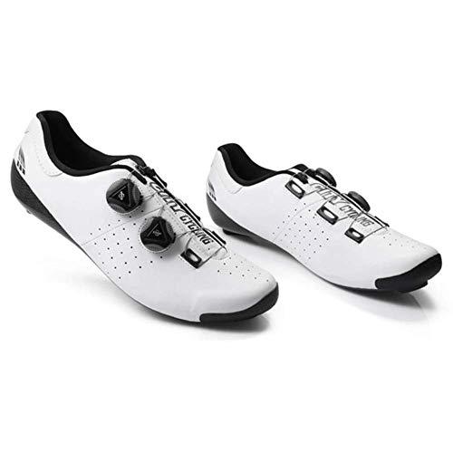 HAOLIN - Zapatillas de ciclismo termomoldeables por calor de carbono 3k para...