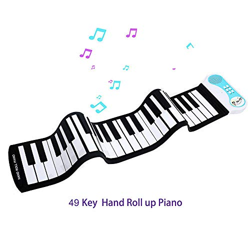Amazing Deal JJCFM Kid's 37 Key Hand Roll Piano, Flexible Roll-Up Educational Electronic Digital Mus...