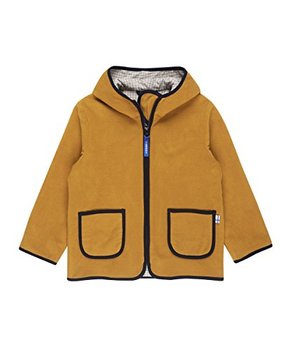 Finkid Tonttu harvestgold navy Kinder Zip In Fleece Jacke