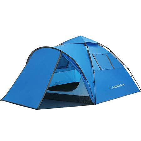 Mdsfe CASDONA Tourist tent large space double 3-4 people ten hydraulic automatic waterproof 4 season outdoor family beach leisure tent-blue,A1