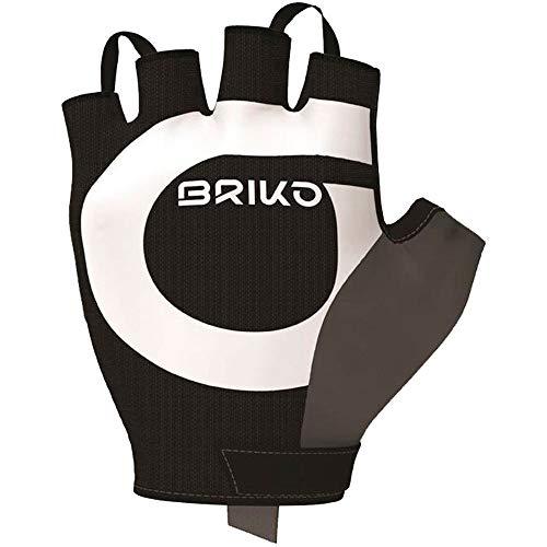 Briko Granfondo Glove Guanti Ciclismo, Unisex Adulto, Black, XL