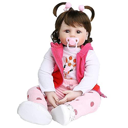 MAIHAO 20pulgadas Realista Toddler Muñecas Reborn Ninas Silicona Muñecos bebé Baratos Baby Dolls Niño Originales Bebes Girls 50 Cm