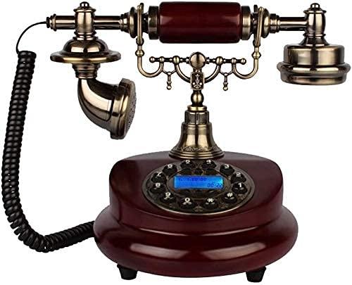 Inicio Teléfono Europeo Retro Sala de estar Dormitorio Dormitorio Home Landline Anticipo Piano Pintura Phone Teléfono Ordinario Botón Versión + Anillo Doble Mecánico y Electrónico (Color: A) Teléfono
