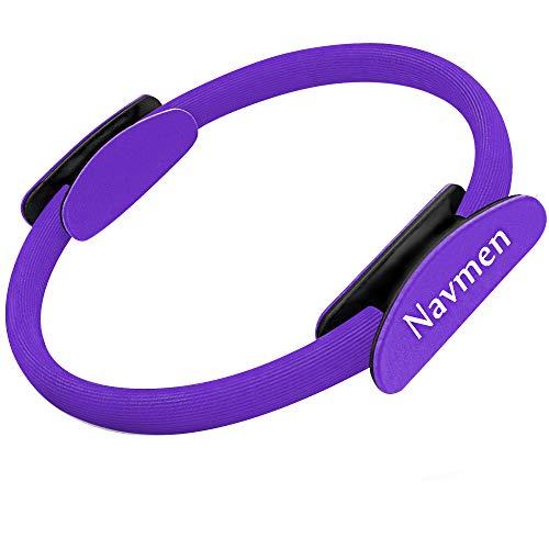 navmen Pilates Ring Yoga Fitness Magic Circle Full Body Toning Fitness Body Ring Training- Leg, Inner Thigh, Arm Workout and Lower Body Toner Purple