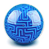 elecnewell 3D Gravity Memory Maze Ball Puzzle Toy - Education Toy Sphere Game Ball Brain Teasers Game Gifts for Kids Adults Hard Challenges Game Lover (Style A)