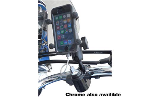 Gears USB Cell Phone Charging Handlebar Mount with 1