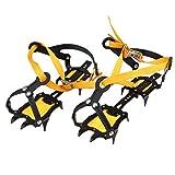 WggWy Crampones Tracción Dispositivo Antideslizante Crampones Ski con Hielo Y Zapatos De Seguridad De Nieve para Caminar, Trotar, Escalar Montañas De Pesca Y Senderismo