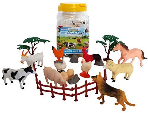 Playscene Large Farm Animal Toy Figurine Set (Farm Animals)