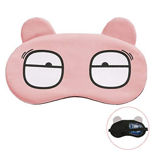 JUSTDOLIFE oogschaduw met ijspakket voor thuis reizen slaapmasker schattig cartoon oog masker