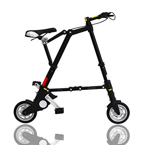 AB folding bike Mini-Klapprad Aluminium-Klapprad - Schwarze Version - geeignet für Personen über 1.65