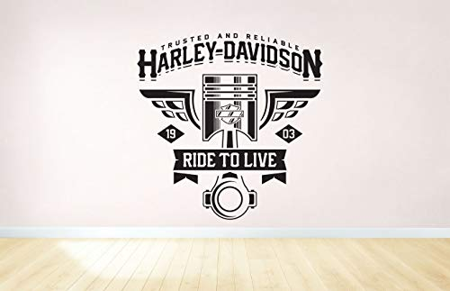 Compatible with Harley Davidson Motorbike Wall Sticker Decal w30