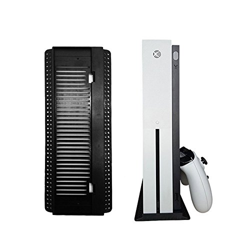 Vertical Stand for Xbox One S, Teepao Vertical Dock Mount Cradle Holder Steady Base with Built-in Cooling Vents and Non-slip Feet