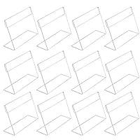 Migavann 20個7.5×5.5cm L字型横型アクリル価格ラベル表示ホルダースタンド Price Label Holder 透明プラスチックワイヤーシェルフ 小売ラベルホルダー 商品表示ホルダー