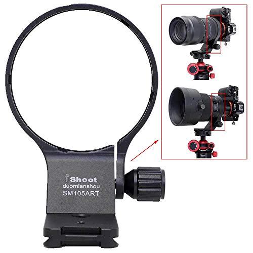 iShoot Anillo de montura de trípode de 82 mm, compatible con Sigma 105 mm f/1.4 DG HSM Art & Sigma 100-400 mm f/5-6.3 DG DN OS, soporte de lente parte inferior es Arca-Swiss Fit Quick Release Plate